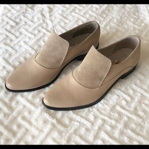 New Free People Brady Leather Suede Loafers